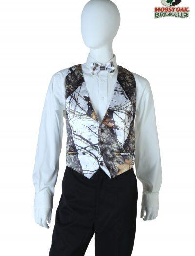 Plus Size White Mossy Oak Open Back Vest buy now