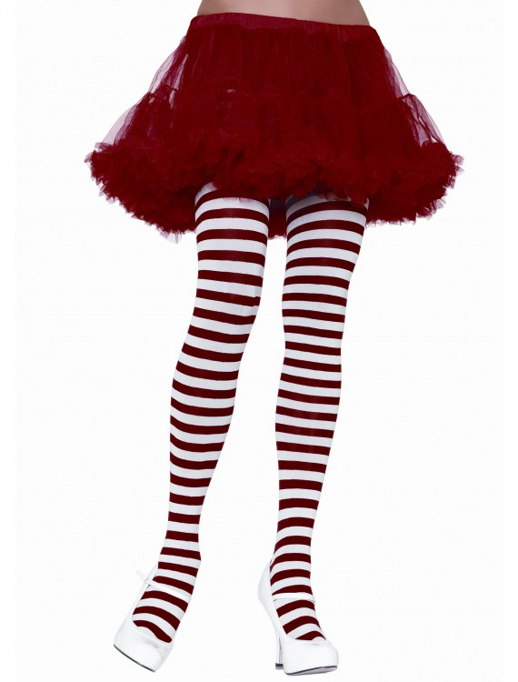White / Red Striped Tights buy now
