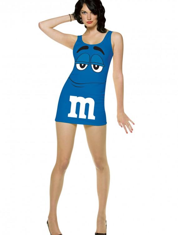 Womens Blue M&M Costume buy now