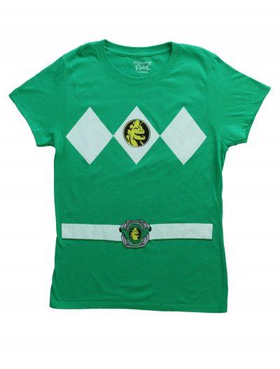 Womens Green Power Ranger Costume T-Shirt buy now
