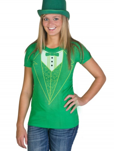 Womens Green Tuxedo Costume T-Shirt buy now
