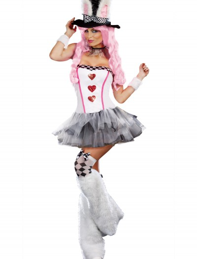 Womens Lost in Wonderland Rabbit Costume buy now