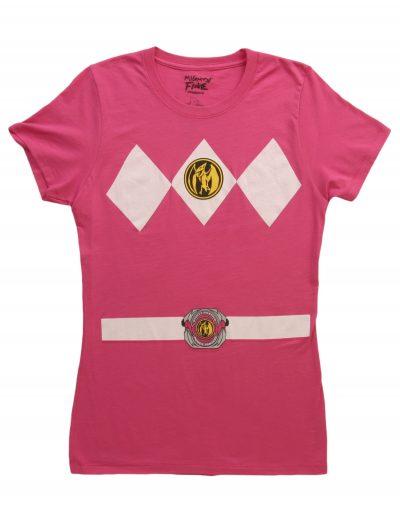 Womens Pink Power Ranger Costume T-Shirt buy now