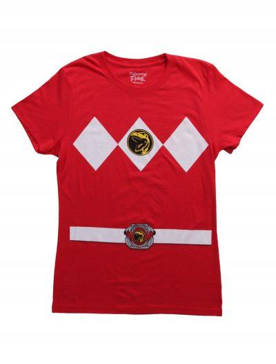 Womens Red Power Ranger Costume T-Shirt buy now