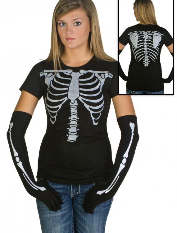 Womens Skeleton Costume T-Shirt buy now