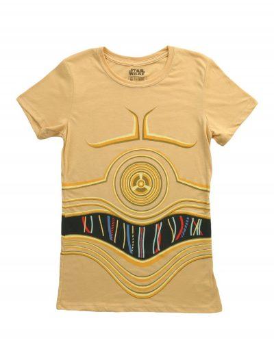 Womens Star Wars C3PO Costume T-Shirt buy now
