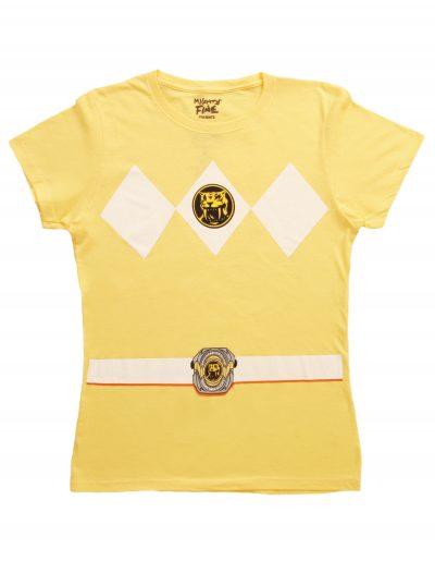 Womens Yellow Power Ranger Costume T-Shirt buy now