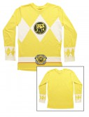 Yellow Power Rangers Long Sleeve Costume Shirt buy now